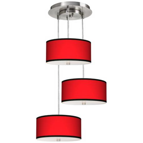 All Red 3-in-1 Drum Giclee Pendant