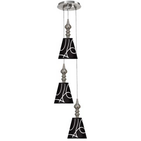 Abstract 3-in-1 Metal Cone Giclee Pendant
