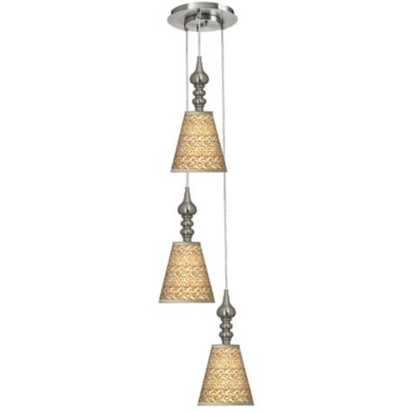 Seagrass 3-in-1 Metal Cone Multi Light Pendant