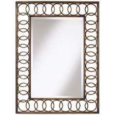 "Uttermost Abidos 40"" High Wall Mirror"