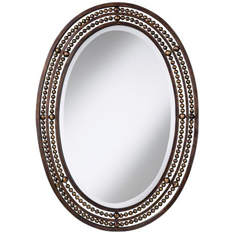 "Uttermost Matney Oval 34"" High Wall Mirror"