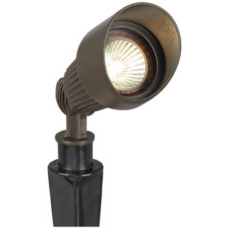 Bronze Hooded MR16 Landscape Spot Light