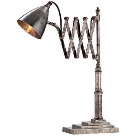 Arteriors Home Fraiser Antique Silver Adjustable Desk Lamp