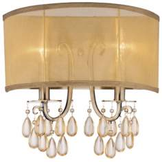 "Crystorama Hampton Collection 13"" High 2-Light Wall Sconce"