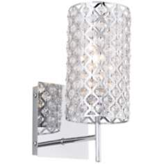 "Possini Glitz Crystal and Chrome 12 1/2"" High Wall Sconce"