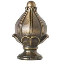 Antique Brass Finish Bud Finial
