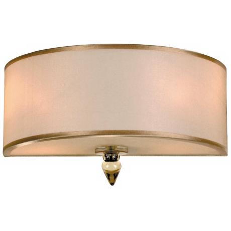 "Crystorama Luxo Brass 12"" Wide Pocket Wall Sconce"