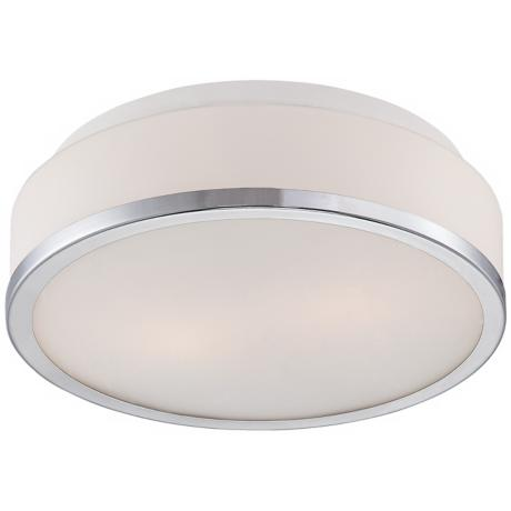 "Possini Euro Design Opal Glass 10 1/4"" Wide Ceiling Light"