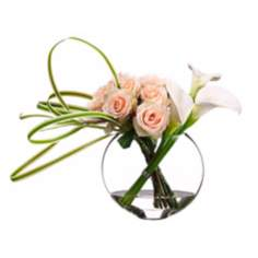 Rose and Calla Lily Faux Flower Arrangement