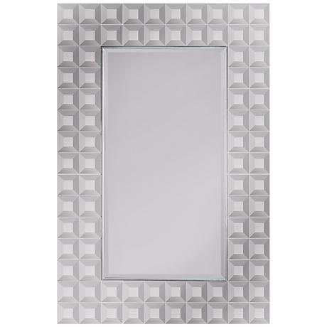 "Square Cut Multi Trim 36"" High Wall Mirror"