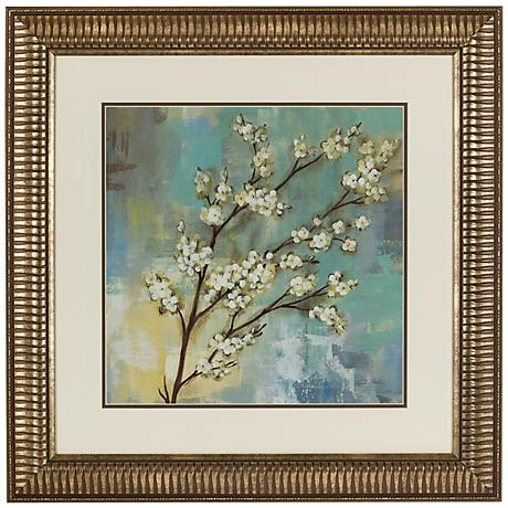 "Springtime Kyoto Blossoms 24"" Square Wall Art"