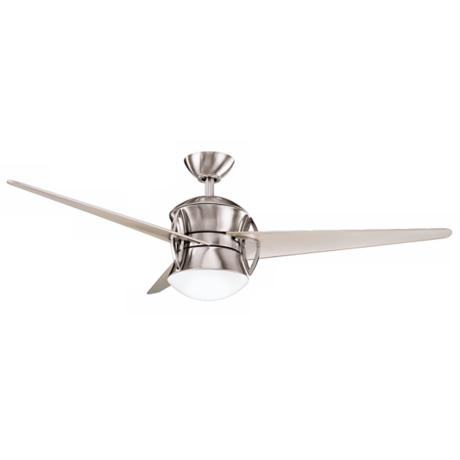 "54"" Cadence Brushed Stainless Steel Finish Ceiling Fan"