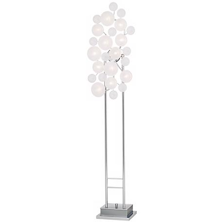 Possini Euro Design Etched Glass Lilypad Floor Lamp