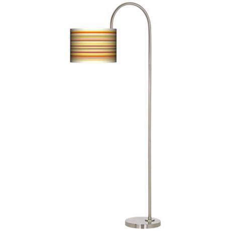 Stacy Garcia Lemongrass Stripe Arc Tempo Floor Lamp