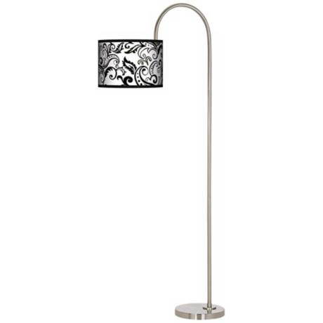 Regency Black Arc Tempo Giclee Floor Lamp