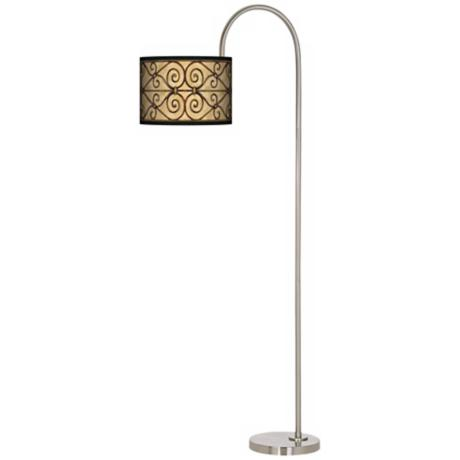 Trellis Hearts Arc Tempo Giclee Floor Lamp
