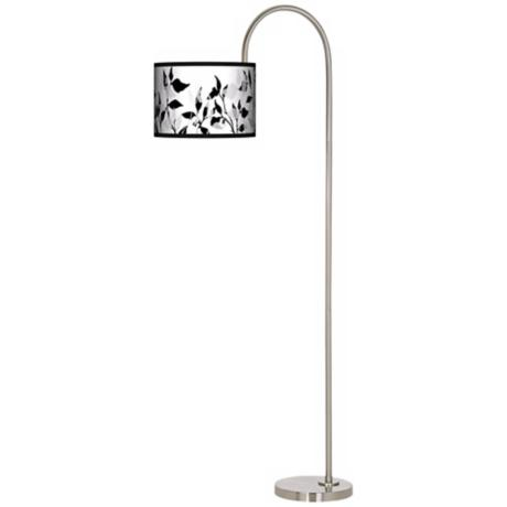 Three-Tone Leaves Arc Tempo Giclee Floor Lamp