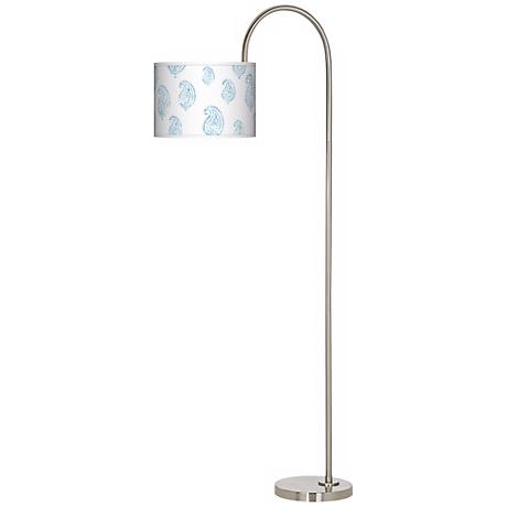 Paisley Snow Arc Tempo Giclee Floor Lamp