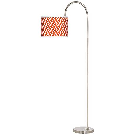 Red Brick Weave Giclee Floor Lamp