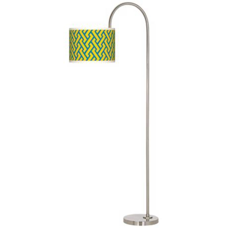 Yellow Brick Weave Giclee Floor Lamp