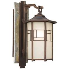 "National Geographic Home Walnut Grove 18"" High Wall Light"