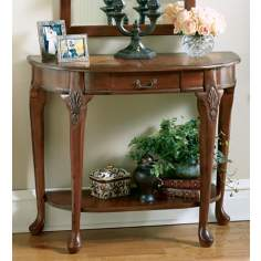 Plantation Cherry Collection Marquetry Console Table