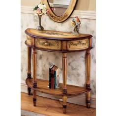 Artists Originals Collection Light Demilune Console Table