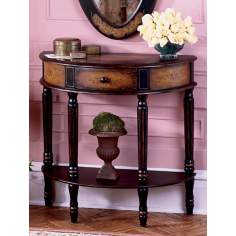 Artists Originals Collection Coffee Demilune Console Table