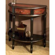 Artists Originals Mahogany Demilune Console Table