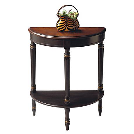 Artists Originals Collection Cafe Noir Demilune Accent Table