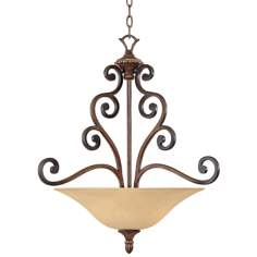 "Montreaux Burnished Walnut 24"" Wide Pendant Chandelier"