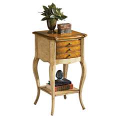 Artists Originals Collection Pine 'n Cream Accent Table