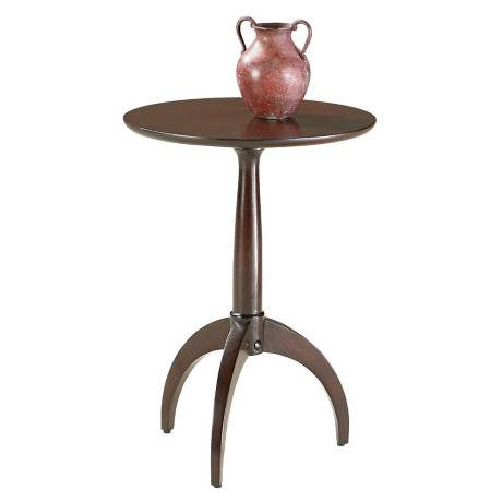 Loft Collection Merlot Finish Round Pedestal Table