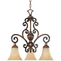 "Montreaux Burnished Walnut 21 1/4"" Wide Chandelier"