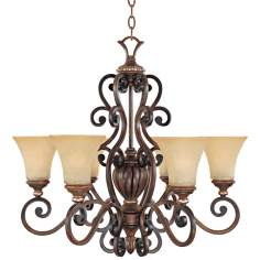 "Montreaux Burnished Walnut 28 3/4"" Wide Chandelier"