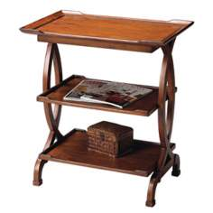 Masterpiece Collection Cherry 3-Shelf Side Table