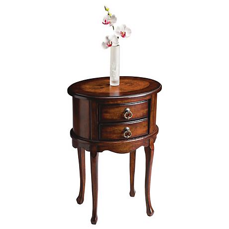 Plantation Distressed Cherry Collection Oval Side Table