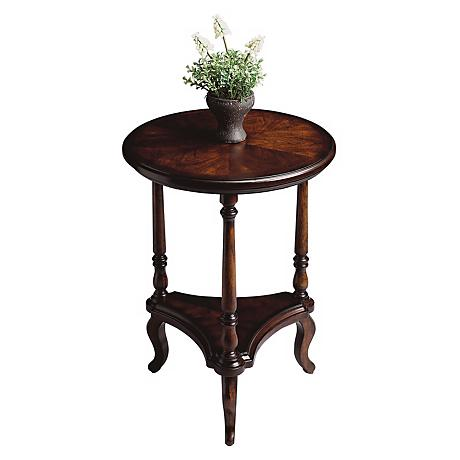 Plantation cherry collection 19 wide round accent table for Table 19 review