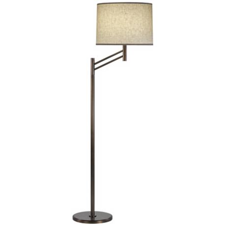Robert Abbey Natural Brass Anders Floor Lamp