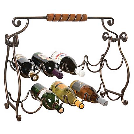 Metalworks Collection Antique Finish Wine Rack