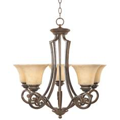 Mendocino Forged Sienna 5-Light Chandelier