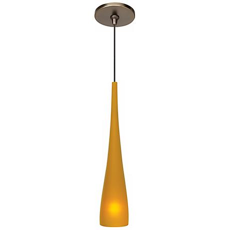 "LBL Cypree Amber 14"" High Bronze Pendant Light"