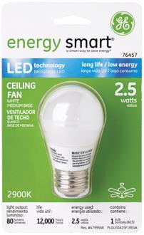 GE Energy Smart LED White Glass Medium Base Bulb