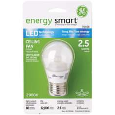 GE Energy Smart 2.5 Watt LED Clear Glass Medium Base Bulb