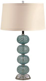 Aqua Glass Globe Table Lamp