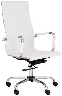 Serge White High Back Swivel Office Chair (M5401) M5401