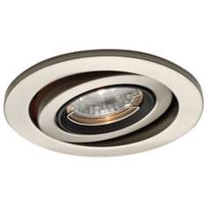 "WAC 4"" Low Voltage Brushed Nickel Gimbal Trim"