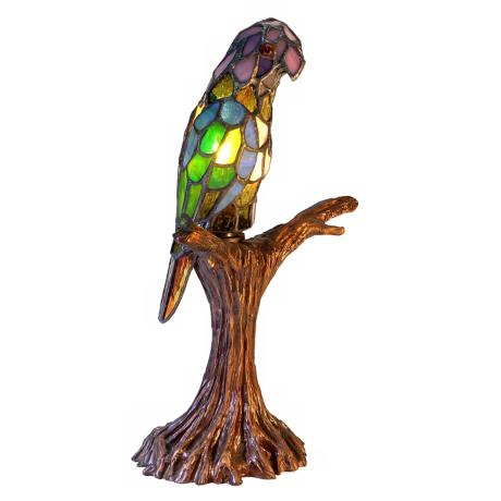 Parrot Shaped Tiffany Style Table Lamp
