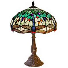 Dragonfly Motif Tiffany Style Table Lamp