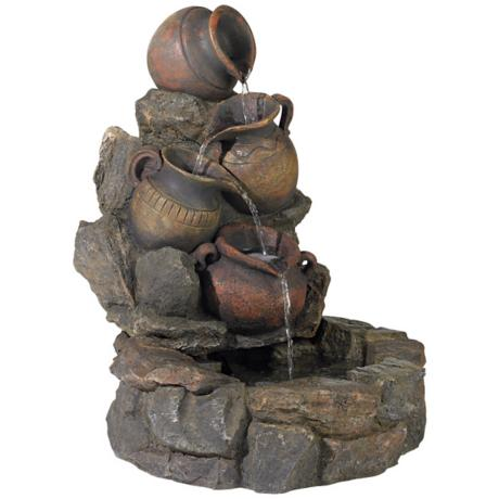 Cascading Rustic Jars Indoor or Outdoor Fountain